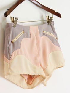 Pastel Color Block Shorts $35