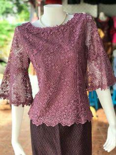 Modern Filipiniana Dress, Kebaya Modern Dress, Kebaya Lace, Kebaya Dress, Kebaya Wedding, Thailand Fashion, Model Kebaya, Dress Brokat, Batik Fashion