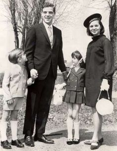 A young George Clooney, left, with dad Nick, sister Ada and mother Nina, 1967, Maysville, KY. Nick Clooney was brother to Rosemary Clooney.