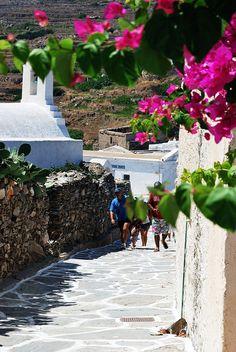 Charming alley in Sikinos island Greece / Grekland Republic Of Macedonia, Greece Islands, Santorini Greece, Vacation Destinations, Vacations, Stunning View, Greece Travel, Beach Fun, Nice View