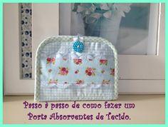 Tutorial, DIY, Passo à Passo Porta Absorventes de Tecido. http://www.vivartesanato.com.br/2016/09/tutorial-diy-passo-a-passo-porta-absorventes-de-tecido.html