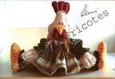 Coisinhas de Pano: Galinha Cocota-molde
