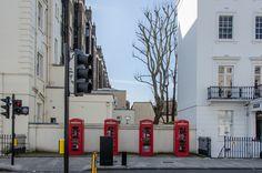 classic London red telephone box