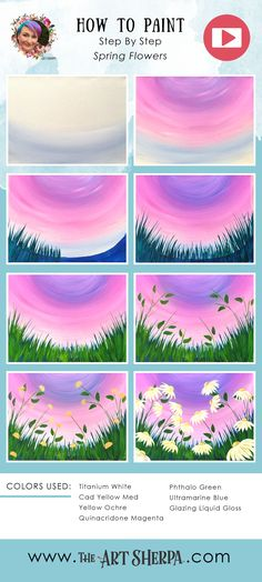 Learn to paint Daisy wildflowers in this Acrylic on Canvas step by step, free video lesson and traceable. This is perfect for your home painting party. Are YOU ready to Enjoy this Beginners step by step how to paint in this full acrylic art lesson! Simple Canvas Paintings, Easy Canvas Painting, Diy Canvas Art, Trippy Painting, Acrylic Canvas, Pour Painting, How To Paint Canvas, Acrylic Art Paintings, Cavas Painting