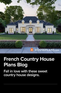 Discover these adorable French country style house plans. Click the image to read the blog. Also, use code GOSOCIAL for 5% off your house design (some exclusions apply). Click the image to read the blog. Questions? Call 1-800-913-2350 today. #blog #architecture #modern #bungalow #architect #architecture #buildingdesign #country #craftsman #houseplan #homeplan #house #home #homeblog French Country House Plans, Country House Design, Modern Farmhouse Plans, Country Style Homes, Modern Farmhouse Kitchens, French Country Style, Family House Plans, Best House Plans, Building Design