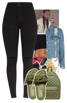 """Untitled #2136"" by toniiiiiiiiiiiiiii ❤ liked on Polyvore featuring Topshop, Fendi, Nixon and Moschino"