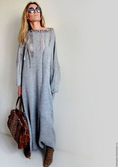 Ideas knitting dress outfit maxi for 2019 Cozy Fashion, Knit Fashion, Womens Fashion, Boho Outfits, Dress Outfits, Fashion Outfits, Dresses, Knit Skirt, Knit Dress