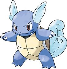 Wartortle- One of the original starter Pokemon. Super cute! Wartortle has the same adorable proportions as little Squirtle, plus a fluffly cloud tail with little winged-ears! Although they don't actually let it fly, they make it look super awesome.