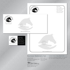 Custom horse business identity set created for Successful Horse. You can order your own set at Horse-Logos.com #equestrian #horse #brand #branding #logo #design #identity