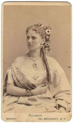 Christine Nilsson Swedish soprano singer in the 1860s rising star at the Palais Garnier... (Notice something familiar?)