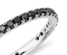 black diamond eternity ring in 18k white gold - drool i want this as my wedding band