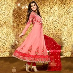 Baby pink anarkali at just 2695/-  #anarkalis #colorful #embroidery #fashion #india #musthaves #designs #floral #pink #white #black #peachmode #borders #usa #uk #international