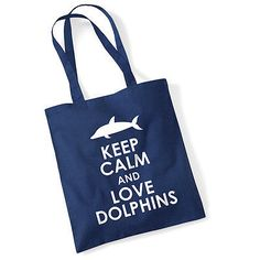 13.19$  Buy now - http://vifsy.justgood.pw/vig/item.php?t=mxwfk9b0820 - Keep Calm & Love Dolphins Long Handle Bag