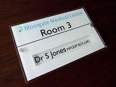 Changeable Medical door signs , meeting room, sliding door signs http://www.de-signage.com/Officesigns.php