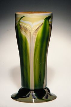 Vase -  Designer: Designed by Louis Comfort Tiffany (American, New York 1848–1933 New York) Maker: Tiffany Glass and Decorating Company (1892–1902) Date: 1893–96