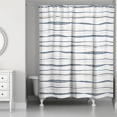 Fanette Wavy Shower Curtain