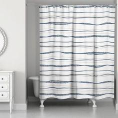 Fanette Wavy Shower Curtain