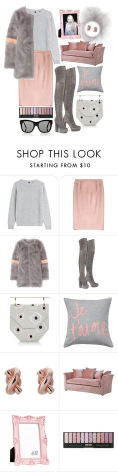 """""""Pink + Gray"""" by cherieaustin ❤ liked on Polyvore featuring Woolrich, Jil Sander, Shrimps, Alice + Olivia, M2Malletier, Kate Spade and Victoria Beckham"""