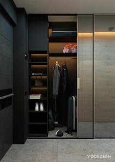 Отделка однокомнатной квартиры - Просторный гардероб в коридоре
