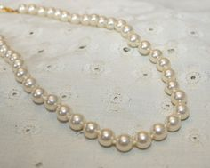 Off White Vintage Glass Pearl Knotted Between by bellendesigns, $8.75