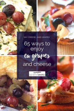 Say cheese…and grapes! Discover 65 ways to enjoy grapes from California and cheese. Grape Recipes, Fruit Recipes, Cheese Recipes, Dessert Recipes, Yummy Appetizers, Appetizers For Party, Appetizer Recipes, Dinner Parties, Healthy Recipes For Weight Loss