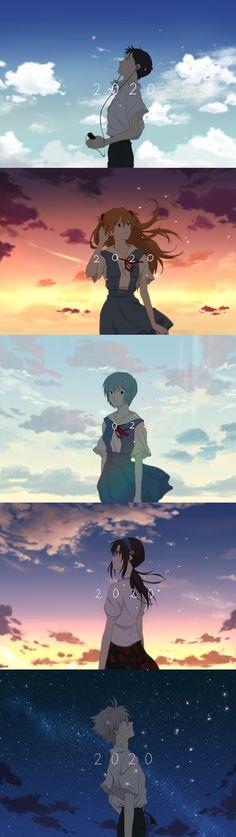 Anime Couples Manga, Cute Anime Couples, Manga Anime, Anime Art, Anime Girls, Neon Genesis Evangelion, Evangelion Tattoo, Evangelion Kaworu, Rosario Vampire Anime