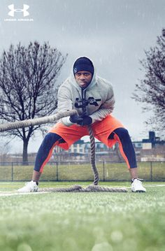 Under Armour gear for him. It's built to withstand all conditions. There's no excuse to stay inside this winter.