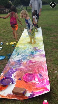 Ideas For Outdoor Birthday Party Games Pictures Superhero Birthday Party, Art Birthday, Birthday Games, Kunst Party, Messy Art, Messy Play, Outdoor Birthday, Art Party, Party Crafts