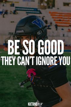 Be so good, they won't be able to ignore you. #FootballQuotes #SportQuotes #Motivation #Inspiration #Football #Nxtrnd #Training Best Football Quotes, Motivational Quotes For Athletes, Sport Quotes, Motivation Inspiration, Training, Sports, Hs Sports, Work Outs, Excercise