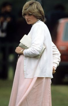 Diana on the first day of Royal Ascot, June 15, 1982. Prince William was born six days later on June 21.