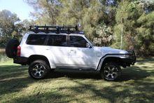 Rock Armor Side Steps & Brush Bar Combo for Nissan Patrol GU4,5,6,7,8 (2004-12)