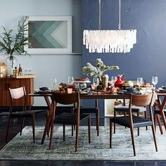 parker expandable dining table from West Elm
