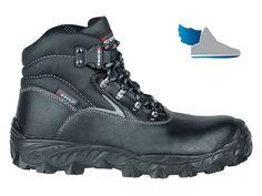 Pánska, čierna, robotnícka topánka  BLACK SEA S3 SRC  s rýchlo upínacim systémom pre uvoľnenie.