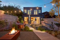 A home update adding a yard creating a beautiful urban oasis. (View Photos)