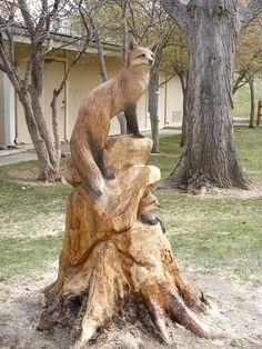ideas for wood carving sculpture forests Driftwood Sculpture, Art Sculpture, Animal Sculptures, Metal Sculptures, Abstract Sculpture, Bronze Sculpture, Chainsaw Wood Carving, Wood Carving Art, Wood Carvings