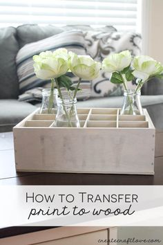 Let me show you how to transfer print to wood and create your own vintage milk crate!  via createcraftlove.com