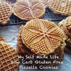 Gluten Free Low Carb Pizzelle Cookies. Italian Celiac sufferers rejoice! Gluten Free and low carb cookies are finally here! For any and all of your holiday baking.