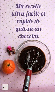Ma délicieuse recette de gâteau au chocolat ultra rapide et facile. Desserts Sains, Cake Chocolat, Food And Drink, Blogging, Community, French, Biscuits, Dreams, Food