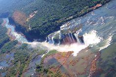 Iguazu Falls from Brazil and Argentina. Helicopter ride, boat ride Iguazu Falls