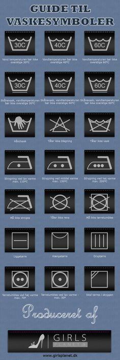 Guide til vaskesymboler - GirlsPlanet