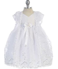Christening Baby Embroidery Dress - Christening Gowns, Dresses & Outfits - For Babies, Girls and Boys - Shop by Design