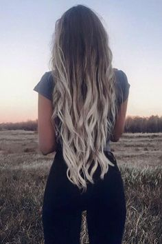 ash blonde ombre hair color