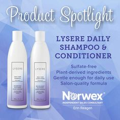 Have you tried our new Lysere Daily Shampoo & Conditioner? Homemade Conditioner, Homemade Shampoo, Face Scrub Homemade, Homemade Face Masks, Shampoo And Conditioner, Norwex Biz, Norwex Cleaning, Norwex Products, Norwex Consultant