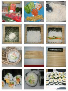 How to make your own sushi.