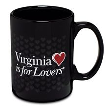 Enjoy your favorite coffee, tea, or cocoa even more! Wrapped in hearts and printed with the official Virginia is for Lovers™ logo on both sides, this sturdy mug is sure to be your new favorite. Holds 15 fl. oz. $10