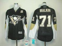 Penguins #71 Vgeni Malkin Black Women's Home Stitched NHL Jersey Cheap Jerseys for sale
