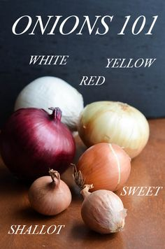 Which onion to use when. And yes, it matters! Helpful information from Rachel Schultz