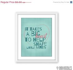 75% OFF THRU 5/9 It Takes A Big Heart To Help Shape by dodidoodles