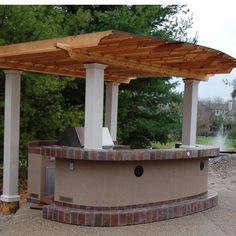 Lovely Grill Island & Outdoor Kitchen with an Impressive Custom Wood Pergola White Pergola, Wood Pergola, Deck With Pergola, Cheap Pergola, Pergola Patio, Pergola Cover, Pergola Ideas, Patio Ideas, Pergola Swing