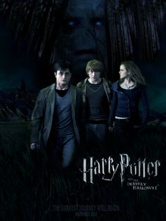 Lord Voldemort, Harry, Ron, Hermiona In the forest.